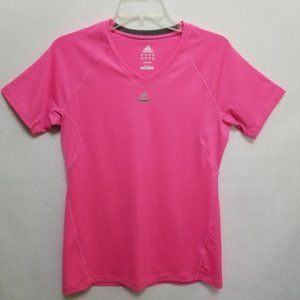 Adidas T-Shirt Climalite Pink Fitness Athletic